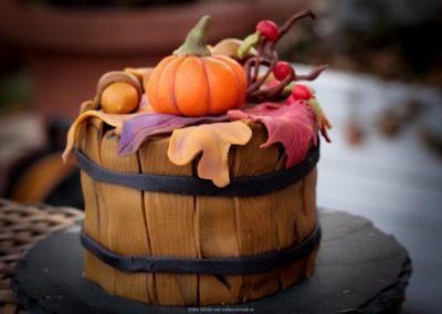 Herbsttörtchen mit Zuckerdeko